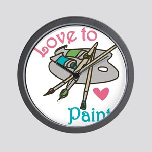 Love To Paint Wall Clock