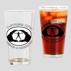 D-STRESS LIFE BLK TRIM Drinking Glass