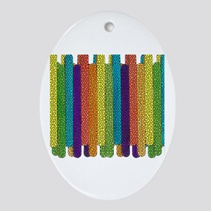 RAINBOW TILED LAYERED HORIZONTAL STICKS Ornament (