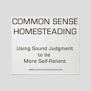 Common Sense Homesteading Lt Throw Blanket