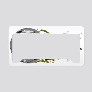 Soccer Ball Flames License Plate Holder