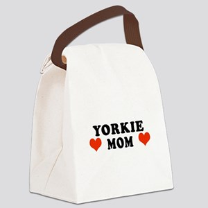 Yorkie_Mom Canvas Lunch Bag