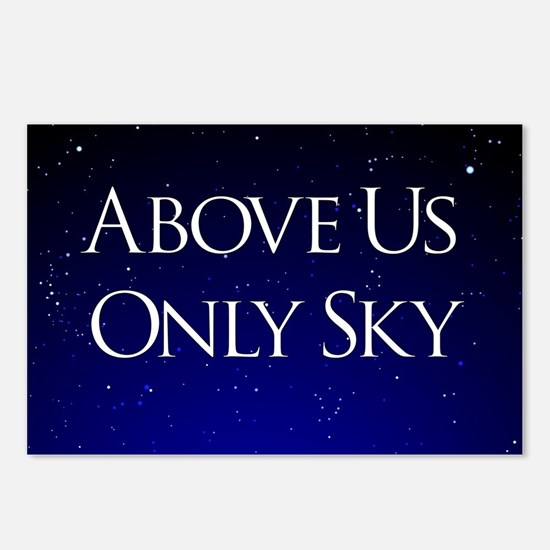 above us only sky Postcards (Package of 8)