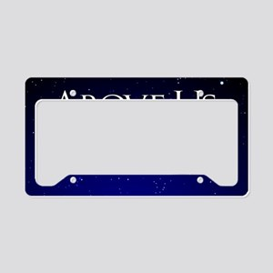 above us only sky License Plate Holder