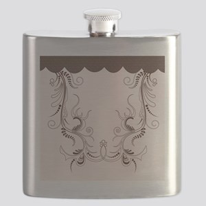 swiryl floral brown Flask