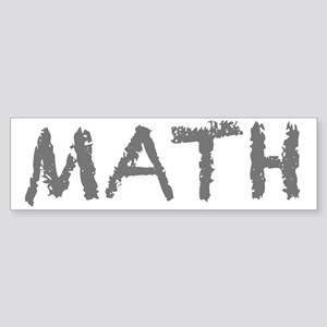 Math Mathematics Computer Geek Ne Sticker (Bumper)