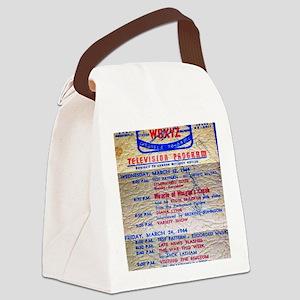 w6xyz tv schedule Canvas Lunch Bag