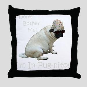 Funny In-Pug-nito! Pug Dog Throw Pillow