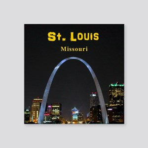 "St Louis Gateway Arch Square Sticker 3"" x 3"""