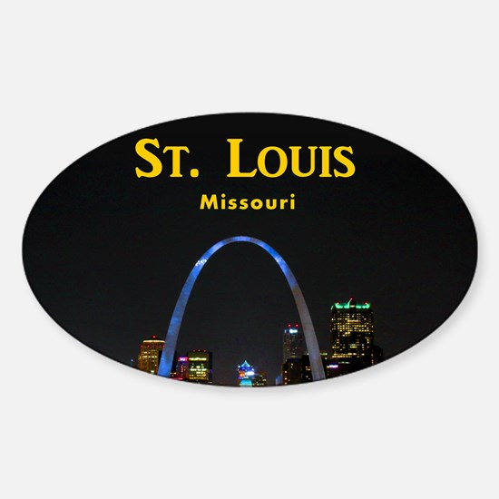 St Louis Gateway Arch Sticker (Oval)