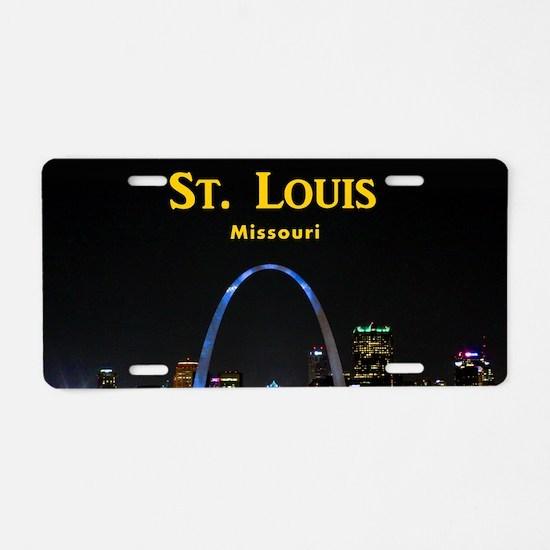 St Louis Gateway Arch Aluminum License Plate
