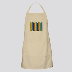 RAINBOW TILE LAYERED HORIZONTAL STICKS BBQ Apron