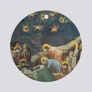 Giotto Lamentation Of Christ Round Ornament