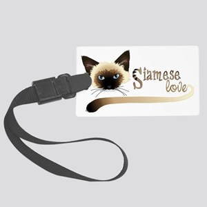 Siamese LOVE Large Luggage Tag