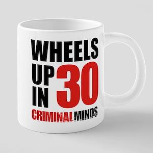 Wheels Up In 30 20 oz Ceramic Mega Mug