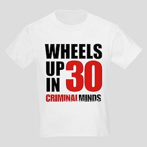 Wheels Up In 30 Kids Light T-Shirt