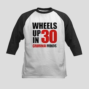 Wheels Up In 30 Kids Baseball Tee