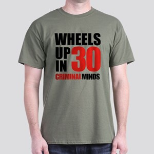 Wheels Up In 30 Dark T-Shirt