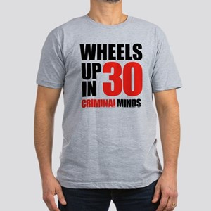 Wheels Up In 30 Men's Fitted T-Shirt (dark)