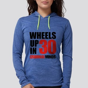 Wheels Up In 30 Womens Hooded Shirt