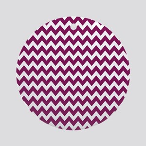 zigzag white purple Round Ornament