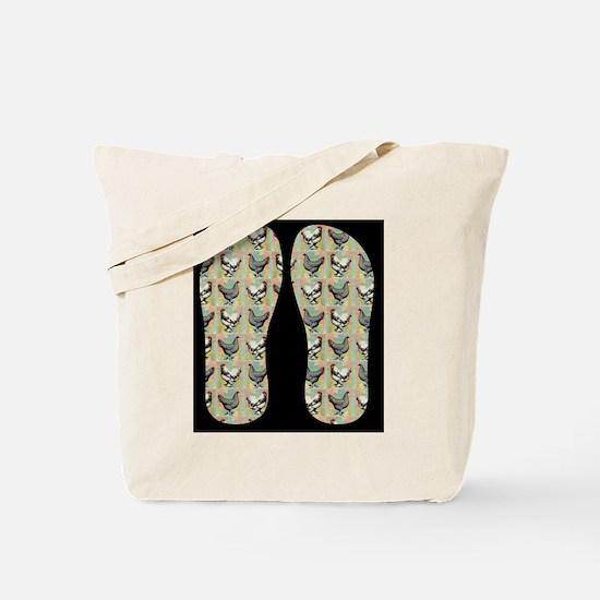 Vintage Chickens Tote Bag