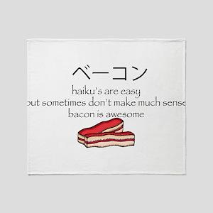 Bacon Haiku Throw Blanket