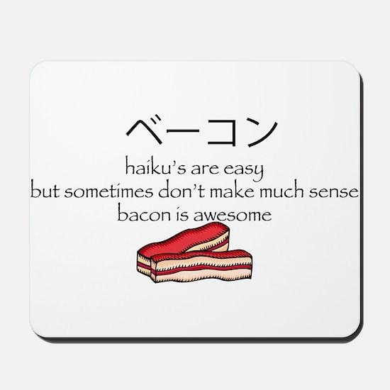 Bacon Haiku Mousepad