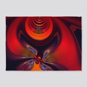 Abstract Fractal Amber Goddess 5'x7'Area Rug