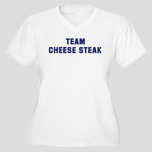 Team CHEESE STEAK Women's Plus Size V-Neck T-Shirt
