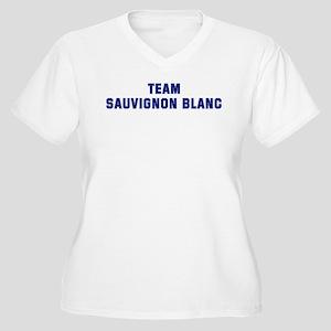 Team SAUVIGNON BLANC Women's Plus Size V-Neck T-Sh