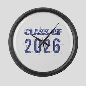 Class Of 2026 (Grunge-a) Large Wall Clock