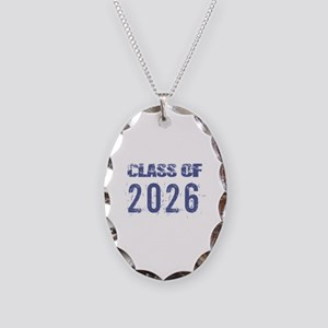 Class Of 2026 (Grunge-a) Necklace Oval Charm