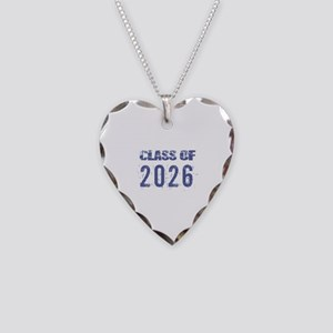 Class Of 2026 (Grunge-a) Necklace Heart Charm