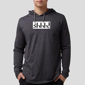 shhh Mens Hooded Shirt