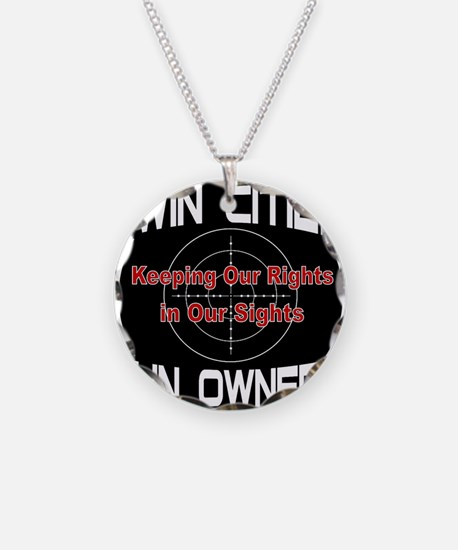 Twin Cities Gun Owners emble Necklace