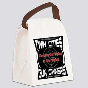Twin Cities Gun Owners emblem Canvas Lunch Bag