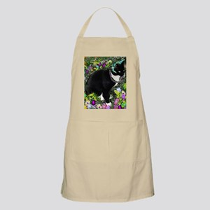 Freckles the Tux Cat in Easter Eggs Apron