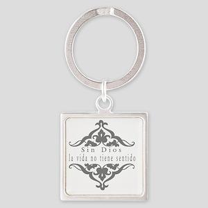 Faith-Hope-Love Square Keychain