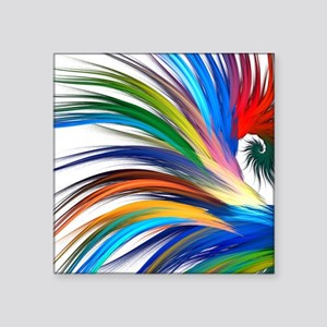 "Colorful Abstract Square Sticker 3"" x 3"""