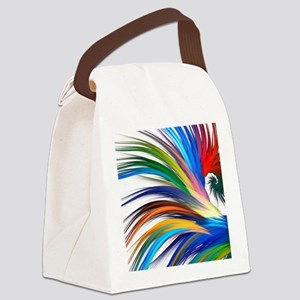Colorful Abstract Canvas Lunch Bag