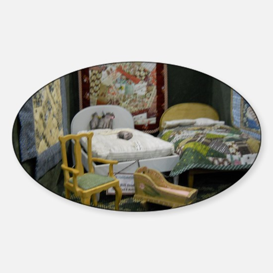Pot Holder Bedroom Sticker (Oval)