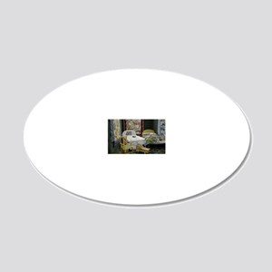 Pot Holder Bedroom 20x12 Oval Wall Decal