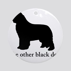Newfoundland : The other black dog Round Ornament