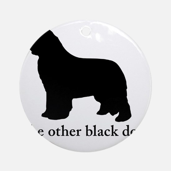 Newfoundland : The other black dog Round Ornament