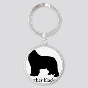 Newfoundland : The other black dog Round Keychain