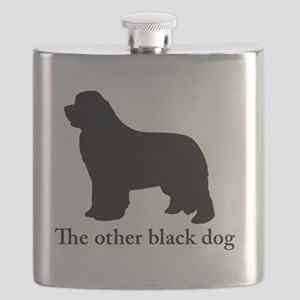 Newfoundland : The other black dog Flask