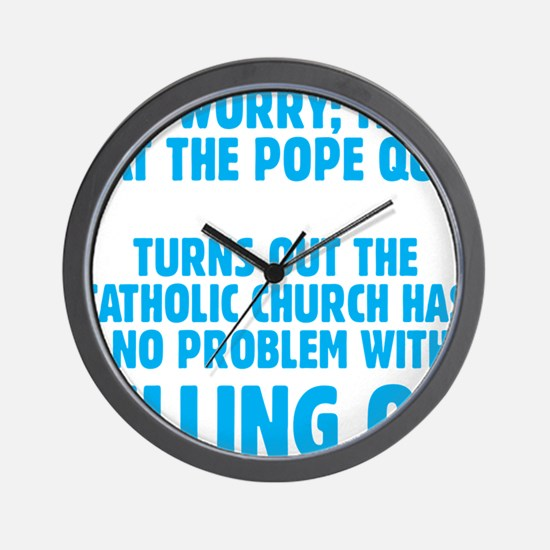 Pull Out Pope (Dark) Wall Clock