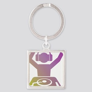 Colorful DJ Square Keychain