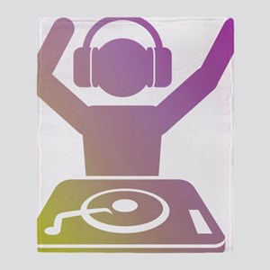 Colorful DJ Throw Blanket